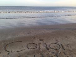 name on beach